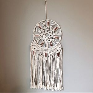 Other - Macrame Wall Hanging with Brass Detail